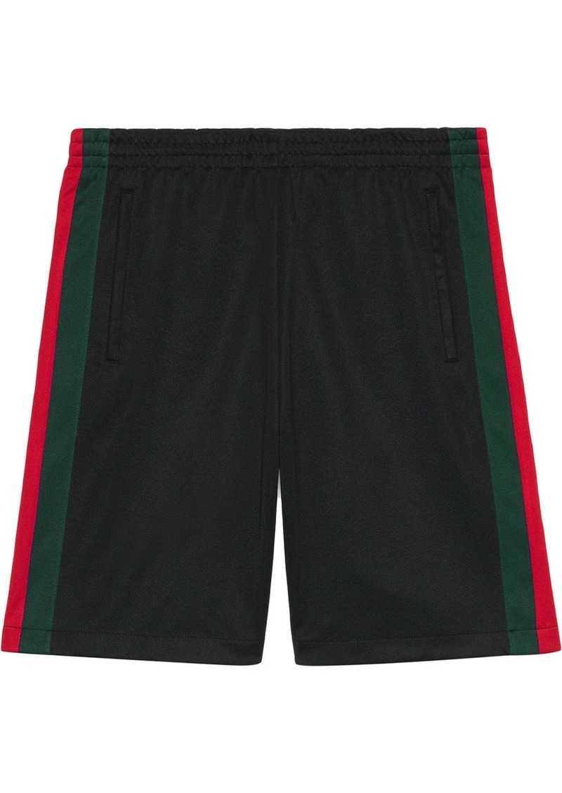 be31a0b2 Technical jersey short with Web detail - Black