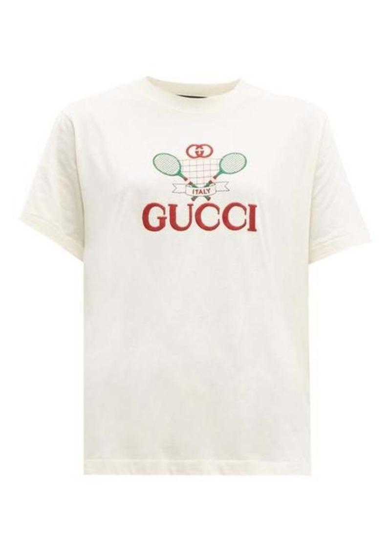 Gucci Tennis cotton-jersey T-shirt