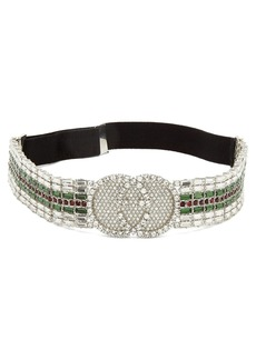 Gucci Tennis crystal-embellished headband