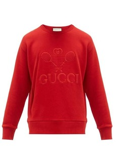 Gucci Tennis logo-embroidered cotton sweatshirt