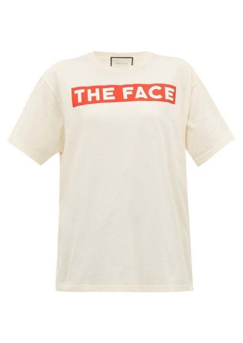 Gucci The Face-print cotton jersey T-shirt
