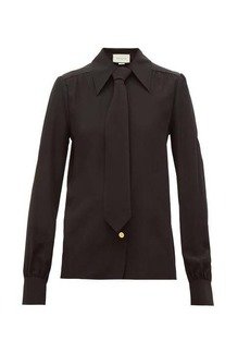 Gucci Tie silk crepe de Chine shirt