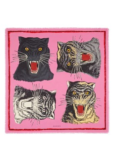 Gucci Tiger Faces Scarf