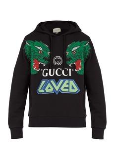 177d431ddcf3d Gucci Gucci Tiger-print cotton hooded sweatshirt