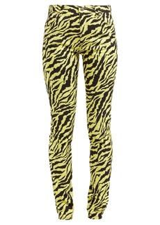 Gucci Tiger-print mid-rise slim-leg jeans