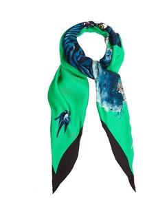Gucci Tiger-print silk scarf