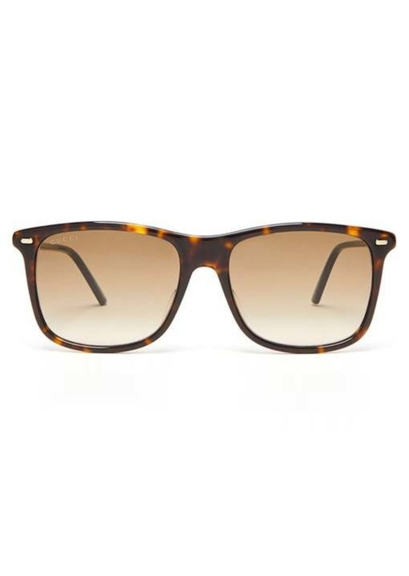 Gucci Tortoiseshell square acetate sunglasses