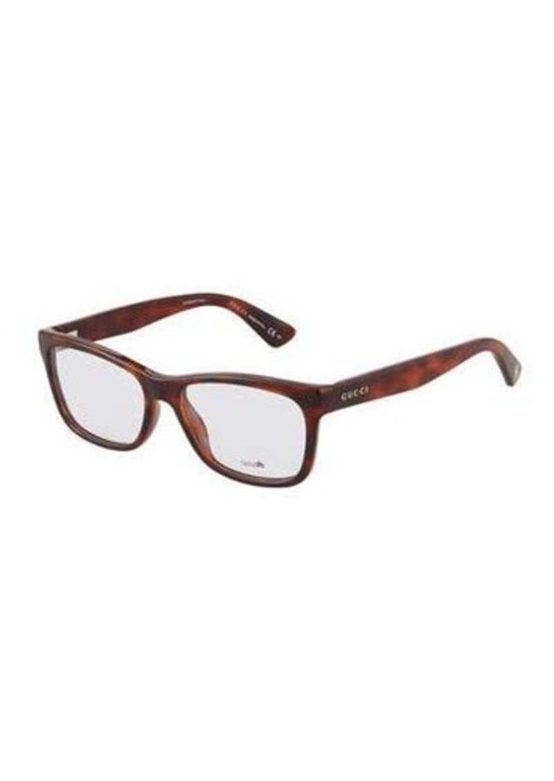 9fe3f2fff7 Gucci Gucci Tortoiseshell Square Plastic Optical Glasses