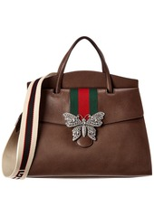 Gucci Totem Large Leather Top Handle Tote