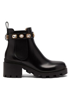 Gucci Trip embellished leather chelsea boots