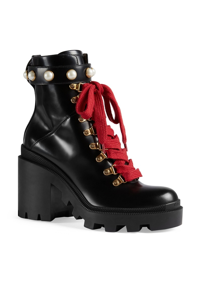 0ccdf35777a Gucci Gucci Imitation Pearl Boot (Women)