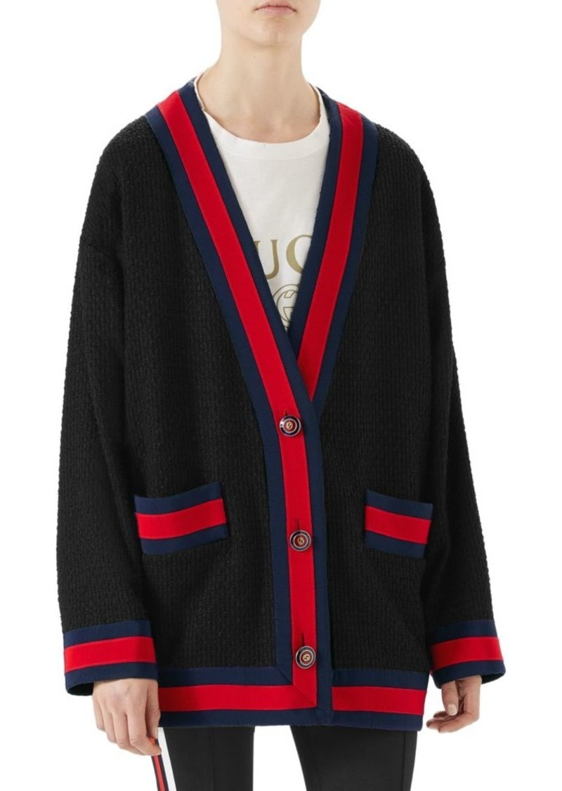 cfb7ec17d Gucci Tweed Oversized Cardigan | Sweaters