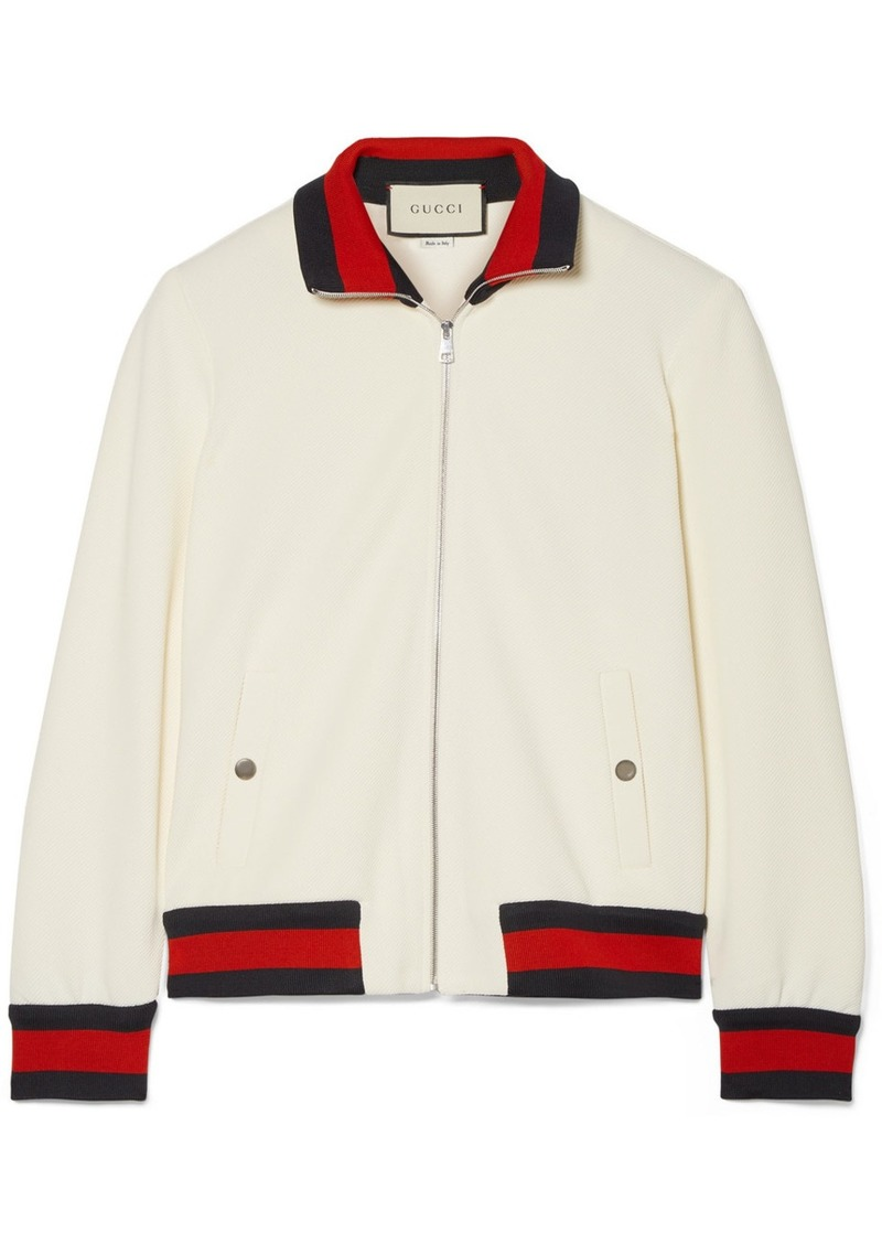 ce410714b Gucci Twill bomber jacket   Outerwear