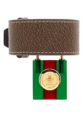 e88a1701ca8 ... 17mm Gucci Twirl Small Leather Strap Padlock Watch