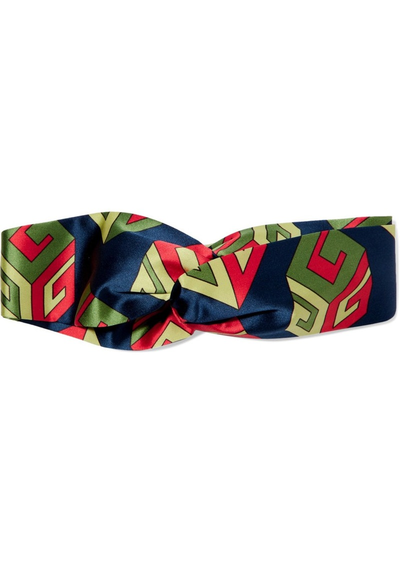 df1e5cb322e Gucci Gucci Twisted printed silk-satin headband