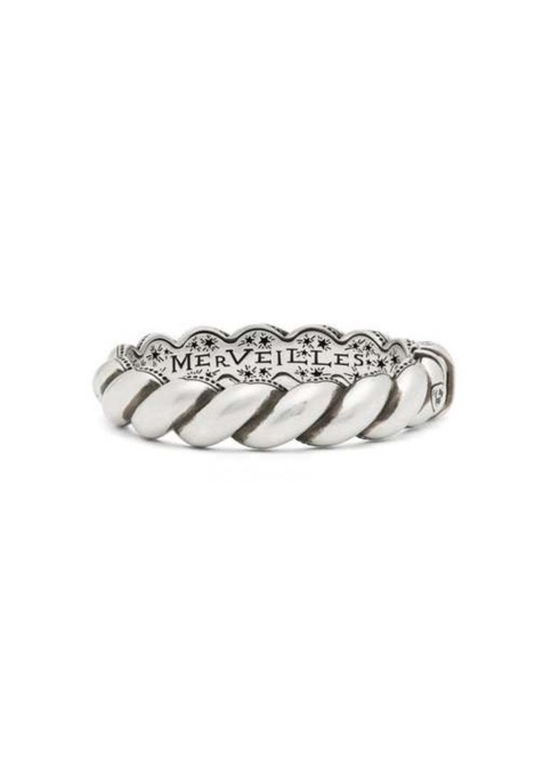 Gucci Twisted-rope sterling-silver hinged bracelet