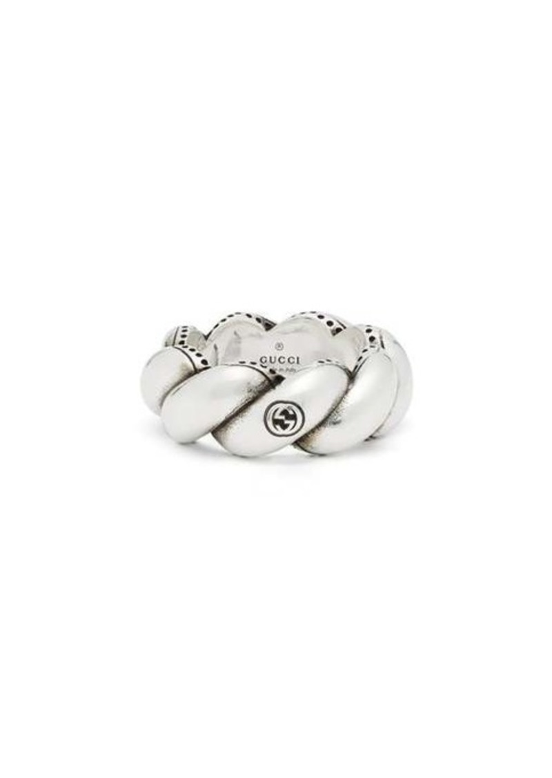 Gucci Twisted-rope sterling-silver ring