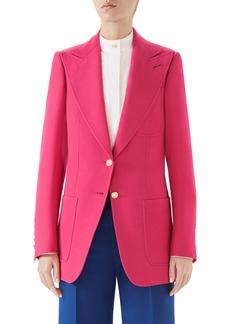 Gucci Two-Button Wool & Silk Blazer