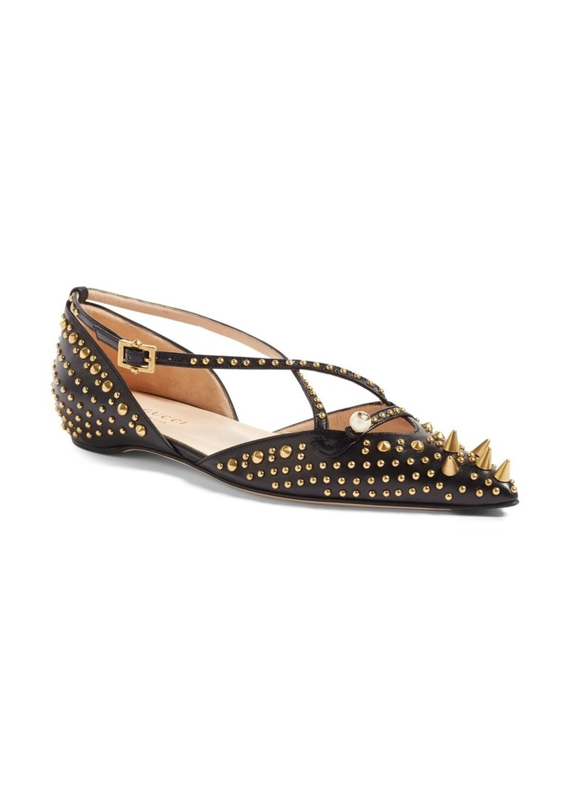 2dbdde050b3110 Gucci Gucci Unia Studded Flat (Women) | Shoes