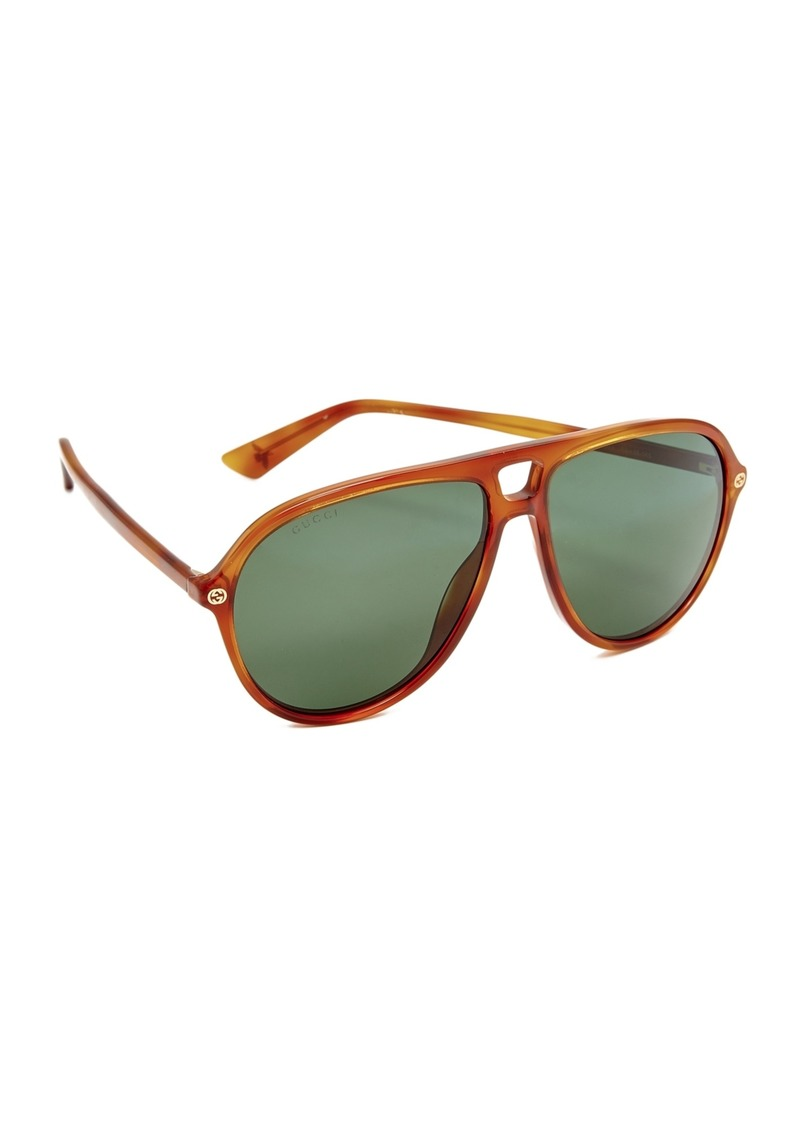 2b1a4cbf0f1 On Sale today! Gucci Gucci Urban Pilot Aviator Sunglasses
