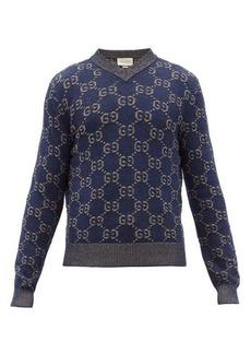 Gucci V-neck GG-jacquard cotton sweater