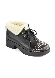 Gucci Victor Studded Faux Sheng Lined Bootie (Women)
