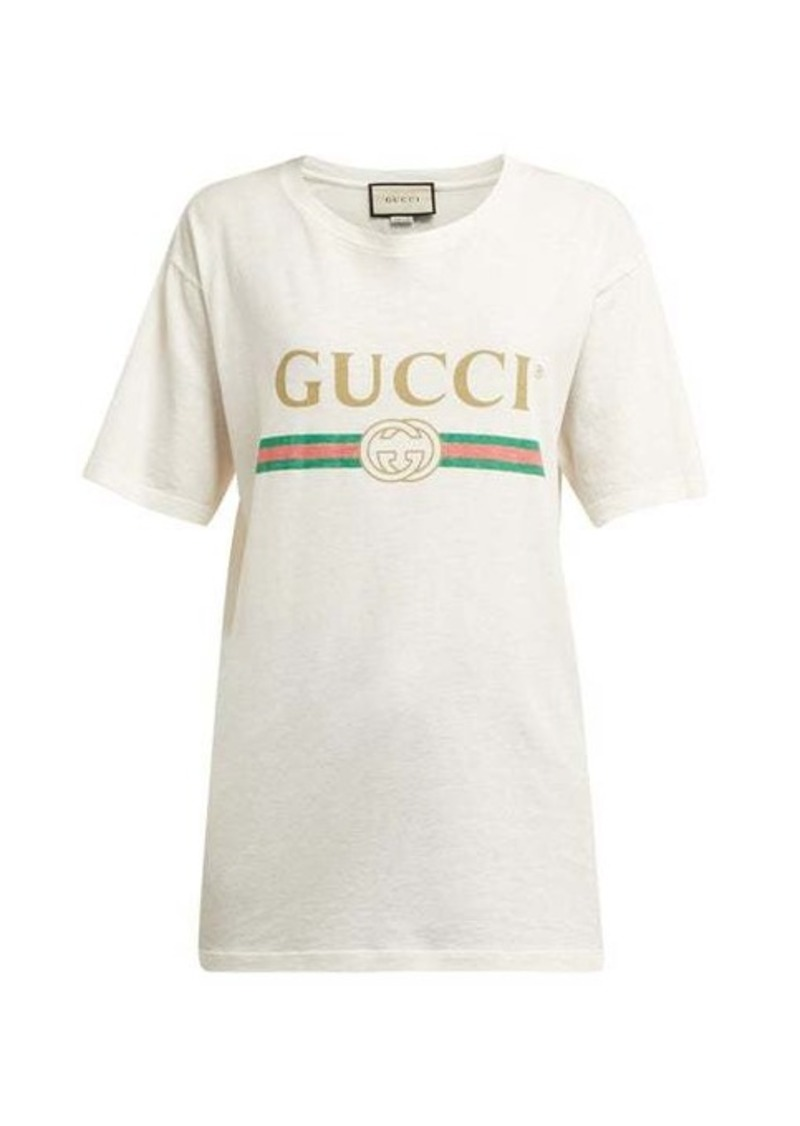 Gucci Vintage-logo cotton-jersey T-shirt