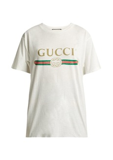 Gucci Vintage-logo cotton-jersey T-shirt