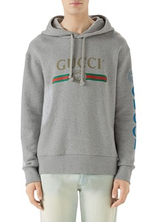 Gucci Vintage Logo Embroidered Pullover Hoodie