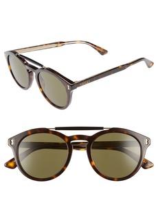 Gucci Vintage Pilot 50mm Sunglasses