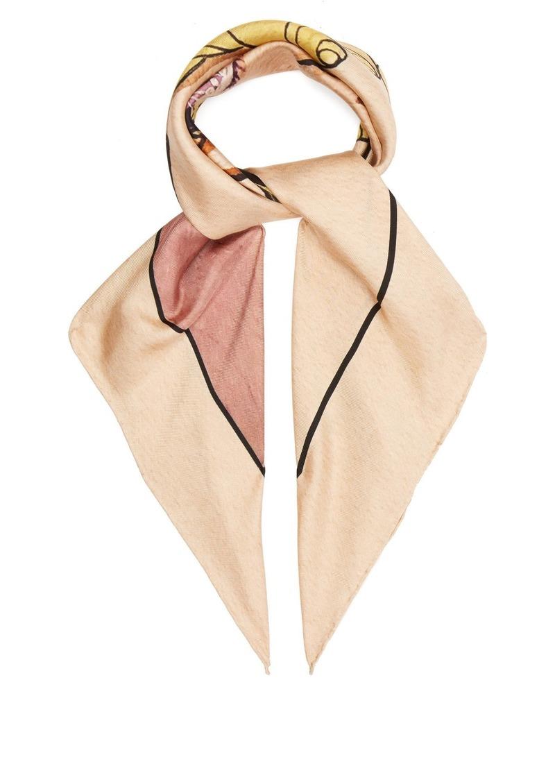 ff3cfe533dc0 Gucci Gucci Viva! Volleyball silk scarf