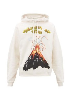 Gucci Volcano-print cotton hooded sweatshirt