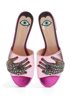 Gucci Wangy Embellished Slide Sandal