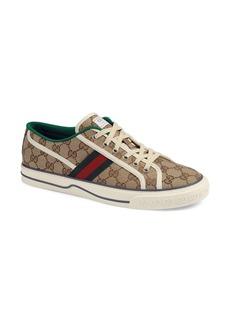 Gucci Web Canvas Low Top Sneaker (Men)