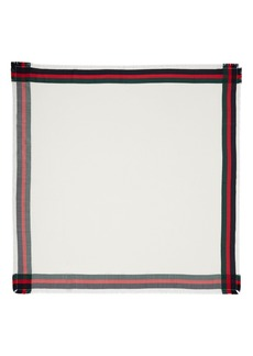 Gucci Web Jacquard Silk & Wool Shawl