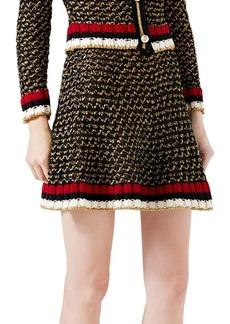 Gucci Web Lurex Blend Skirt