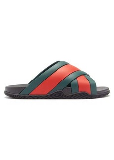 Gucci Web-stripe rubber slides
