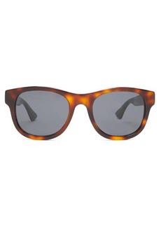 Gucci Web-striped round acetate sunglasses