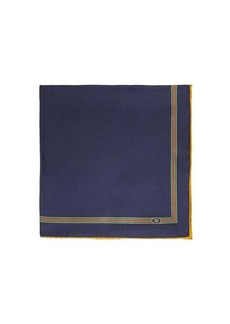 Gucci Web-striped silk-faille pocket square