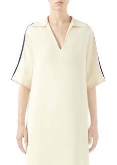 Gucci Web Trim Oversize Stretch Cady Shirt