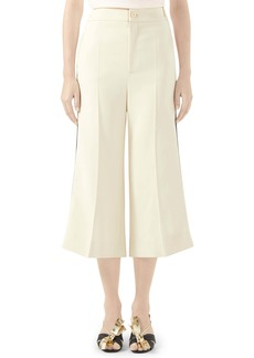 Gucci Web Trim Stretch Cady Culottes