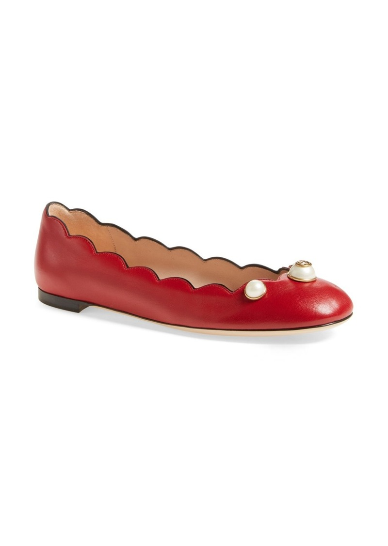 f3276734e Gucci Gucci Willow Scalloped Flat (Women) | Shoes