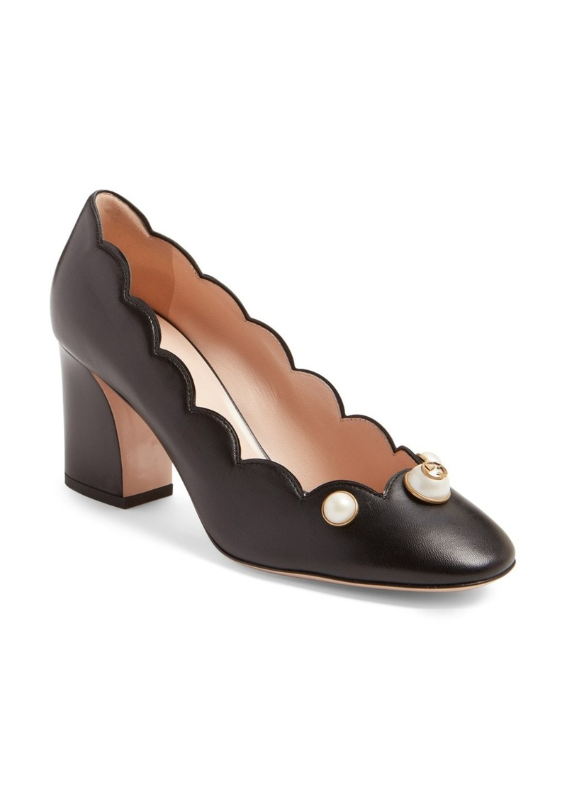 a3c06934b43 On Sale today! Gucci Gucci Willow Scalloped Pump (Women)