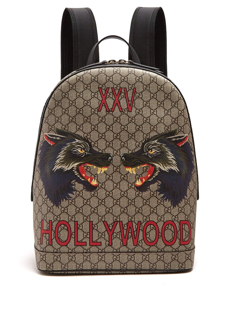 c37d8c031 Gucci Gucci Wolf GG supreme-print canvas backpack | Bags