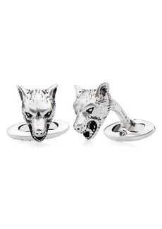 Gucci Wolf Head Cuff Links