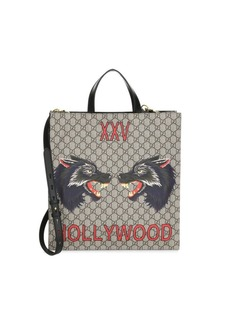 Gucci Wolf Logo Detachable Strap Shopper Bag