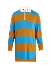 0f1a7961f303 Gucci Gucci Wolf-patch striped wool polo shirt | Casual Shirts