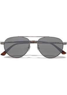 Gucci Woman Aviator-style Gunmetal-tone Sunglasses Gray