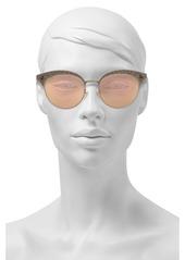Gucci Woman Cat-eye Printed Gold-tone Mirrored Sunglasses Gold