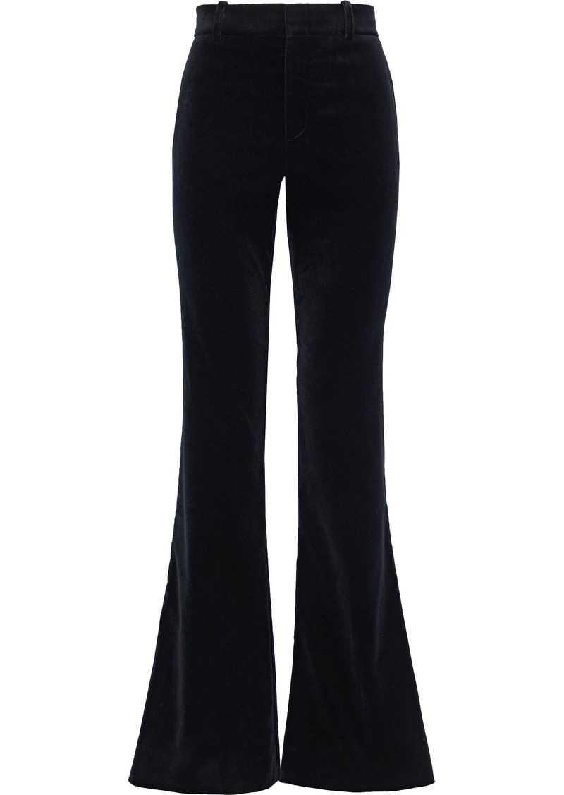 Gucci Woman Cotton-blend Velvet Bootcut Pants Black